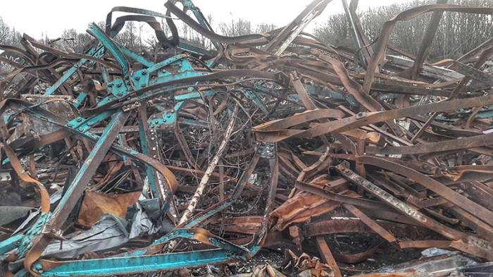 Pile of twisted metal